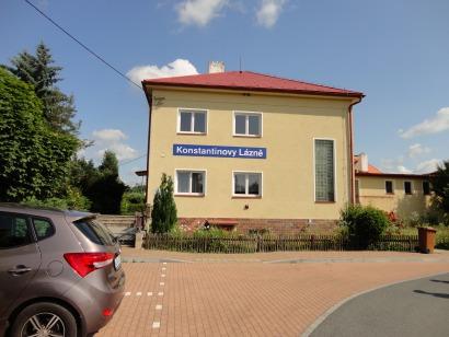 Konstantinovy lázně - vlakové nádraží