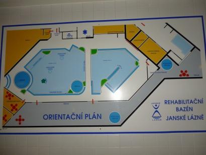 Plán rehabilitační bazén