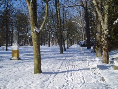 Zima ve Františkových Lázních