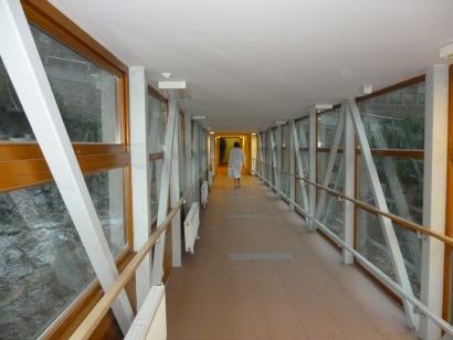 Spojovací chodba - lázeňský dům Terra s aquacentrem